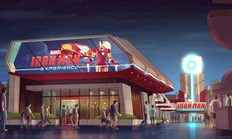 Art Work zur Iron-Man-Attraktion im chinesischen Disneyland.