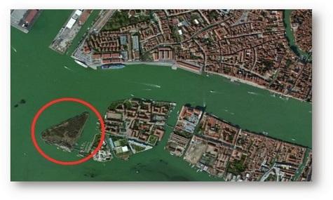 Auf der Insel San Biagio soll der neue Themenpark entstehen, wenn es nach Alberto Zamperla geht.