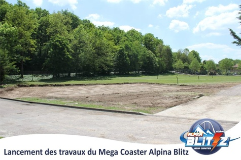 Jede neue Achterbahn beginnt mit unscheinbaren Erdarbeiten: Baubeginn im Juni 2013