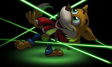 FunnyFux hat bereits sichtlich Spaß im Laser Parcours