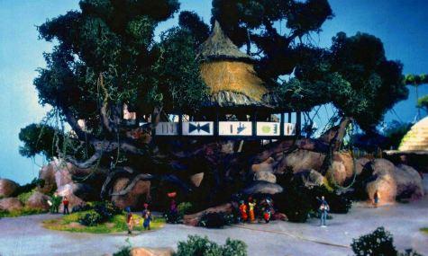 Ein Modell des Baumhauses, einem Eyecatcher, welcher sich direkt an der Lagune befinden sollte