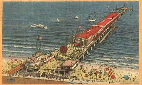 Pleasure Pier vor 1960
