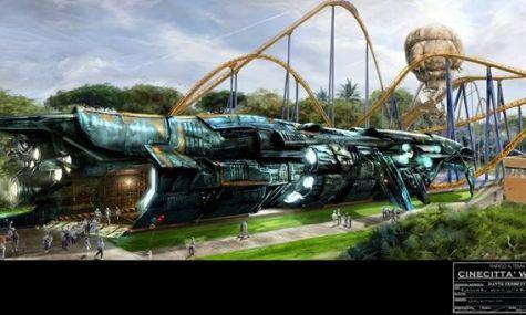 Ein echter Meister am Werk - Das Raumschiff wird verwirklicht, der B&M Hyper-Coaster nicht