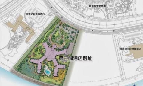 Lage des neuen Hotels im Resort