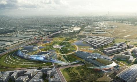 Das futuristische Projekt aus der Vogelperspektive