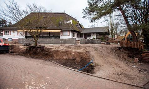 Die Terrasse des See-Restaurants wird erneuert