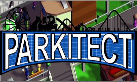 Simpel, schlicht und schwarz weiß blau - so präsentiert sich das Logo von Parkitect!