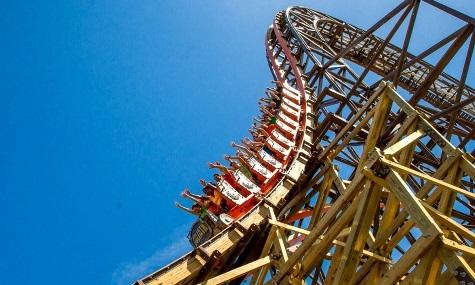 Der steilste Drop einer Holzachterbahn, jetzt auch offiziell im Guinness-Buch der Rekorde