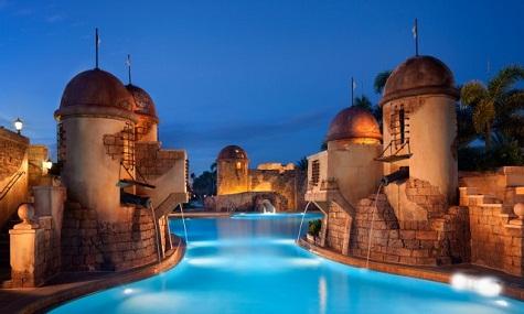 Nur für wahre Seeräuber: der Pool des Caribbean Beach Resorts