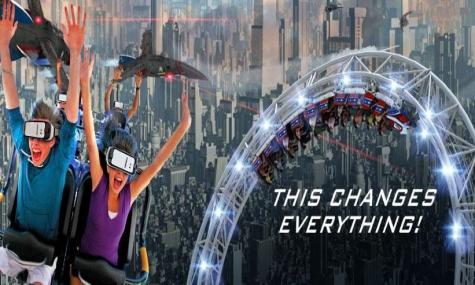 Eine von vielen neuen VR-Coaster in den Six Flags Parks