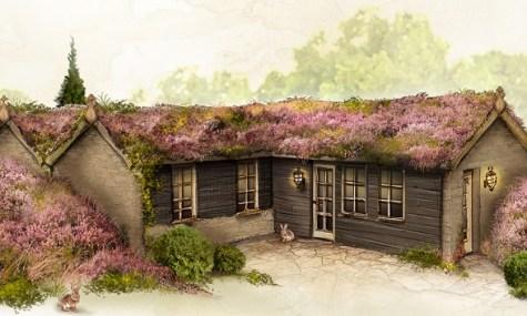 und die Heidehütte.