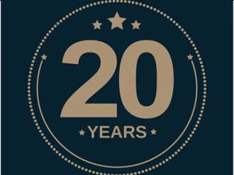 20 years Milestone