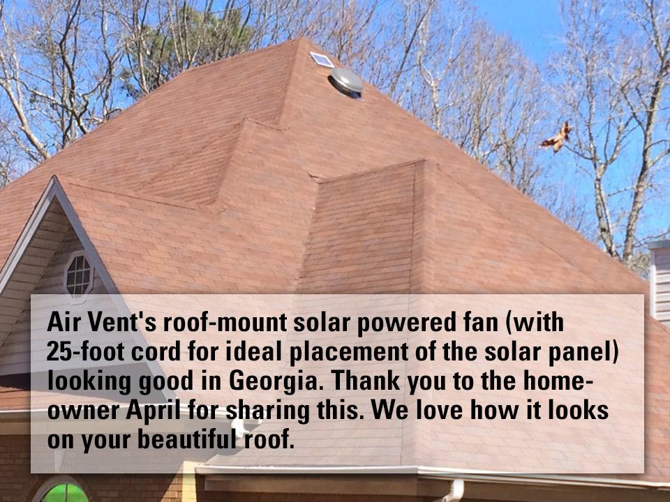 10 watt solar detached air vent inc