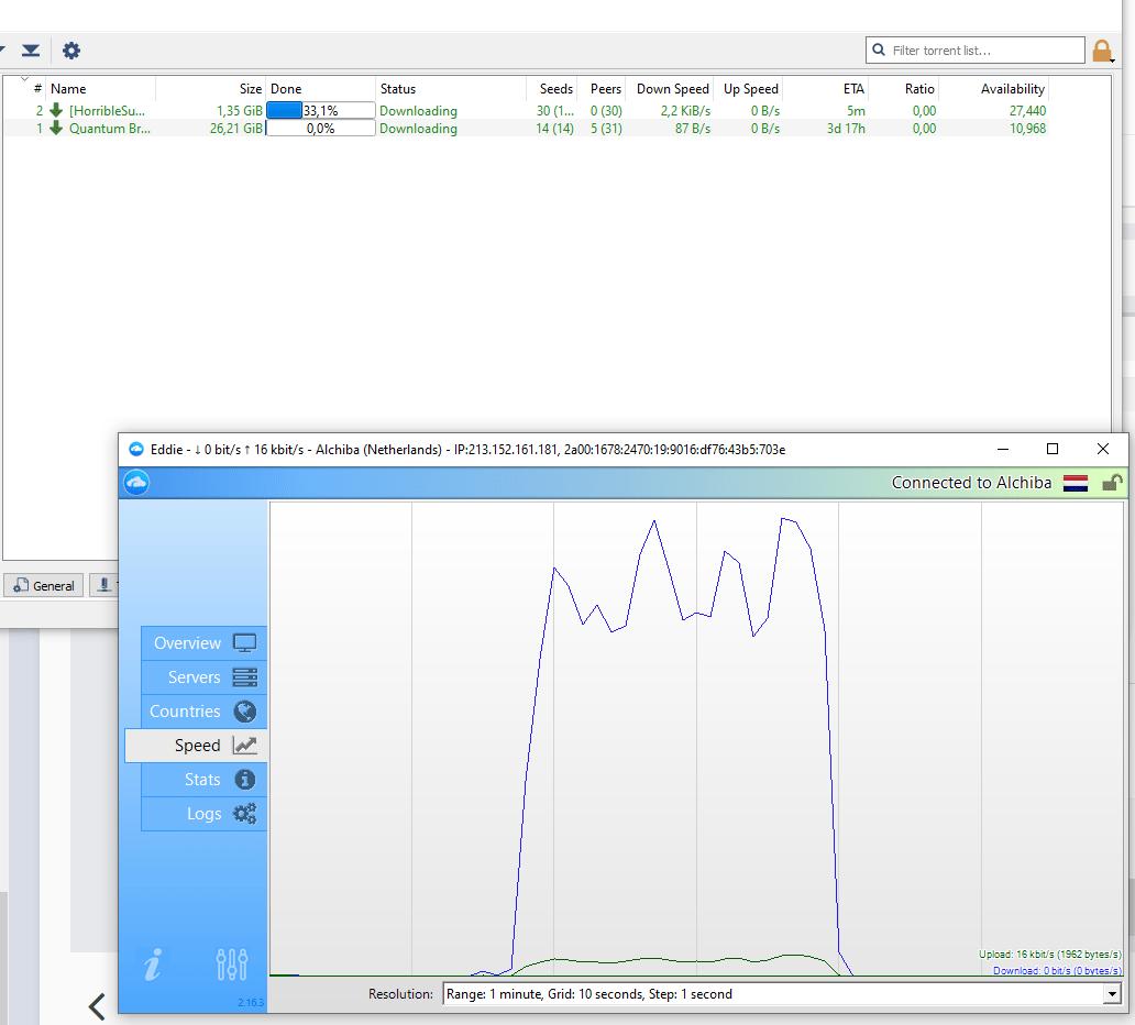 Slow Torrent speed and weird connection drops - Troubleshooting and Problems - AirVPN
