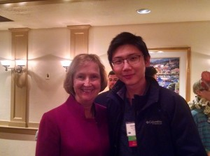 With Tess Graham from Australia, author and breathing educator, at BBEA annual meeting [Boston, 2014]