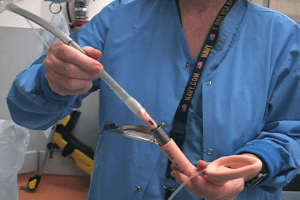 Lubricating the channel of the Fastrach device