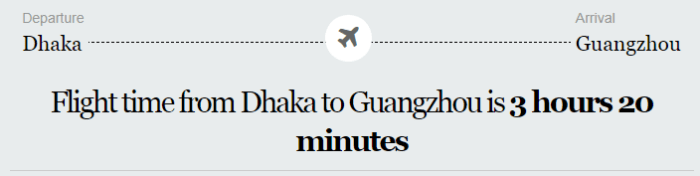 Dhaka to China Flight Information