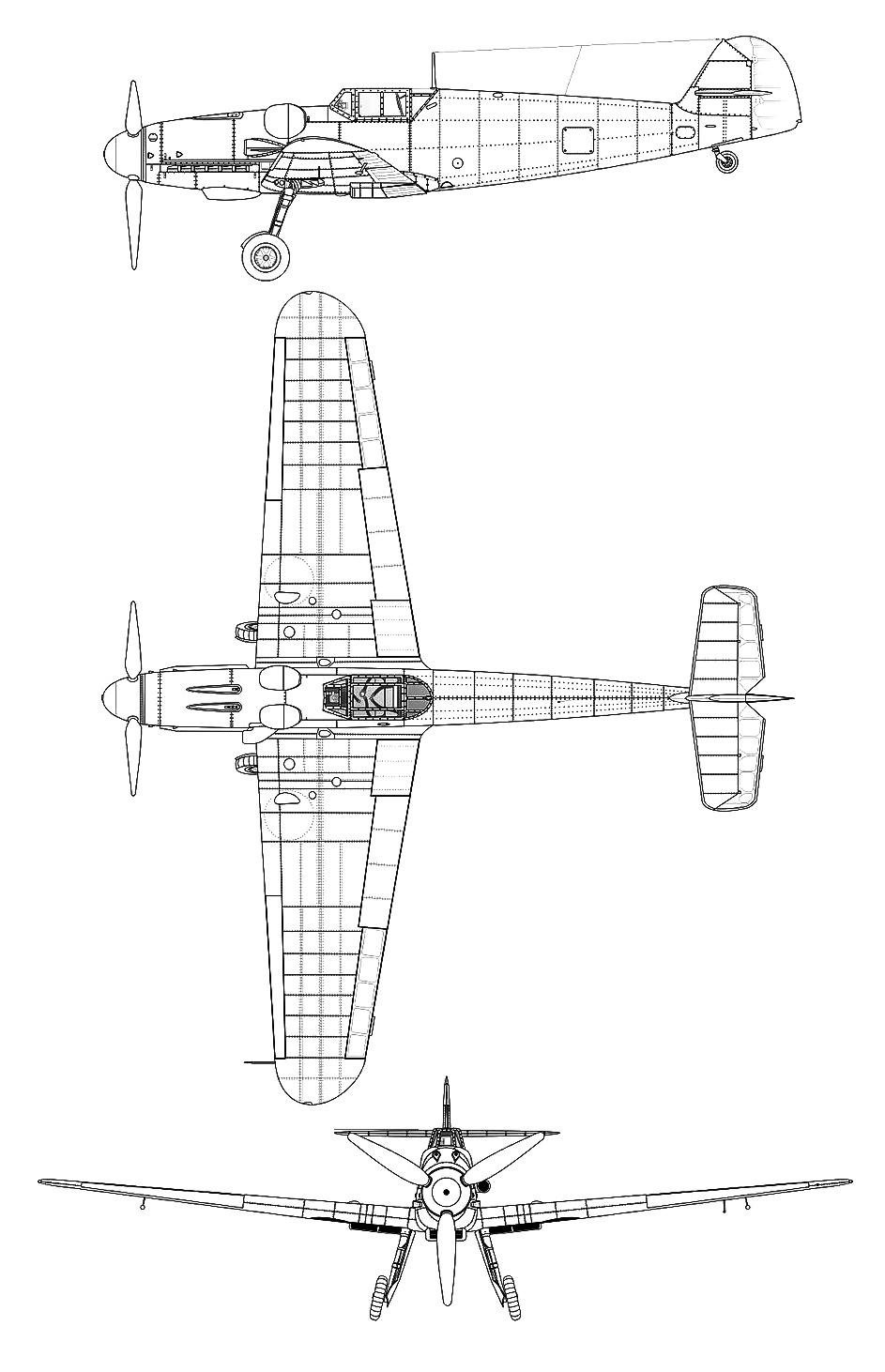 Messerschmitt Me-109 PDF eBook + Aircraft Flight Manuals