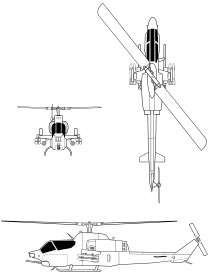 AH-1 Cobra, AH-64 Apache, UH-1 Huey Helicopter Gunships