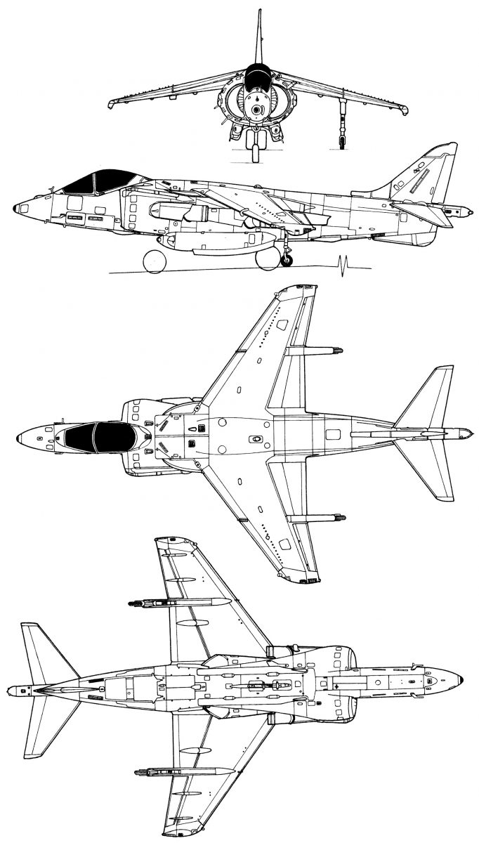 hight resolution of boeing av 8b harrier ii plus