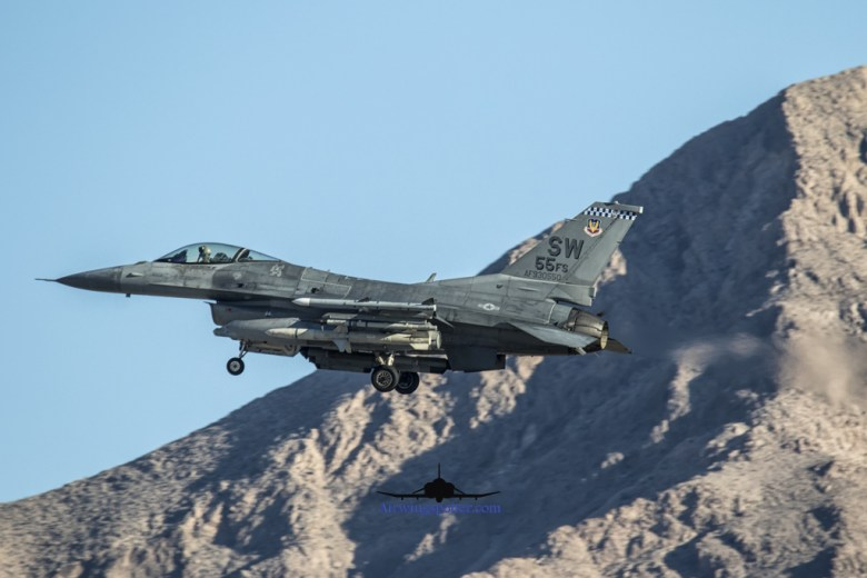 55th FS F-16 recovery 1