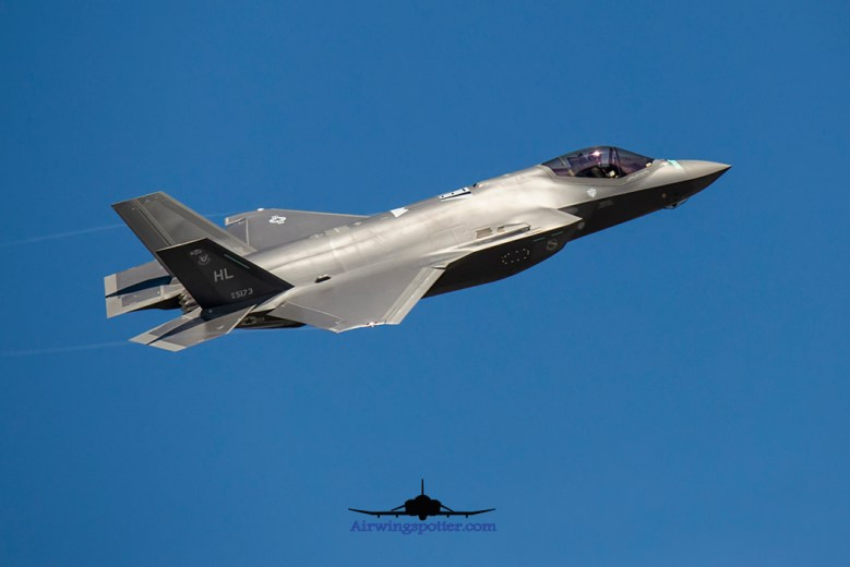 Hill AFB F-35A chaser