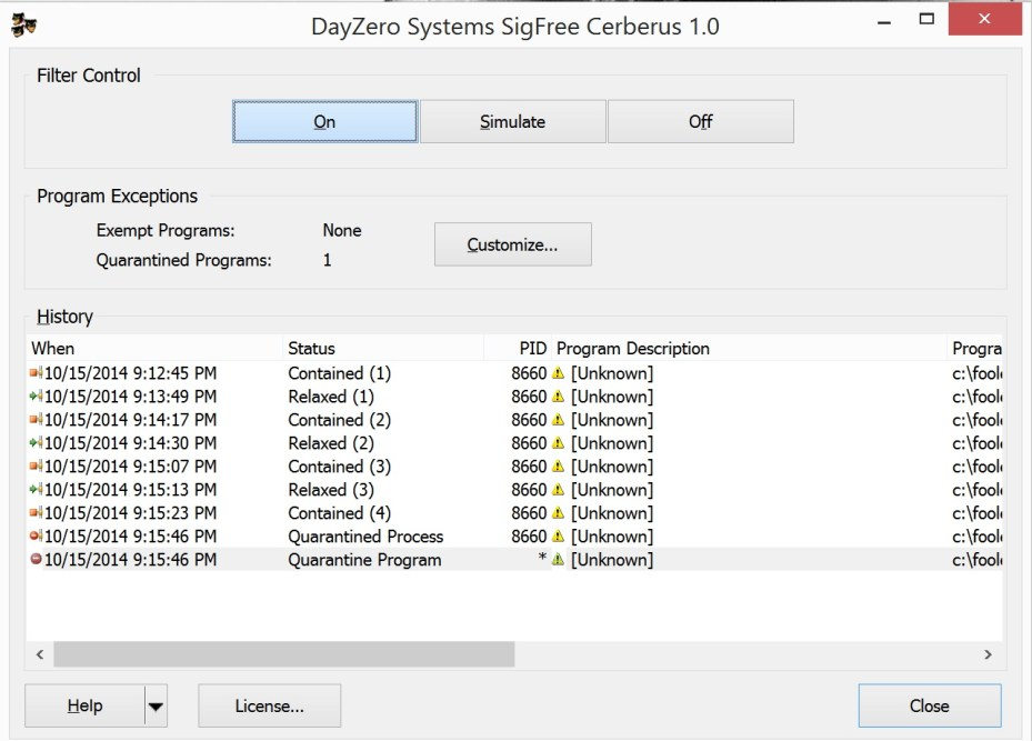 Most Popular DayZero Systems SigFree Cerberus v1 License