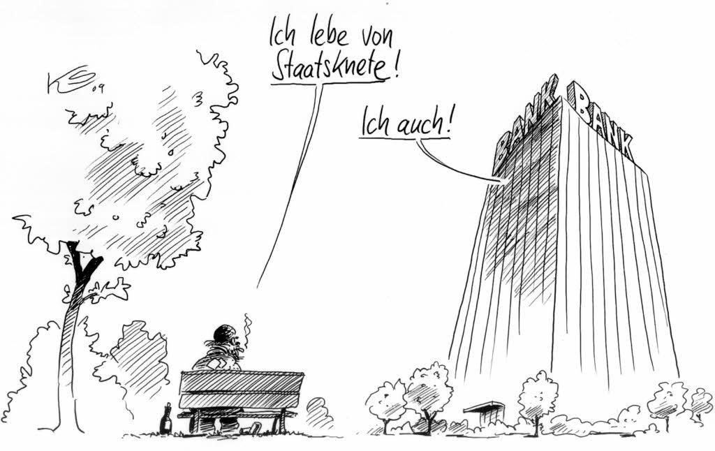 Ich suche Karikaturen, die den Unterschied zwischen arm
