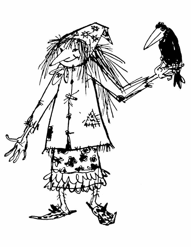Ausmalbilder Die Kleine Hexe - Malvorlage Gratis