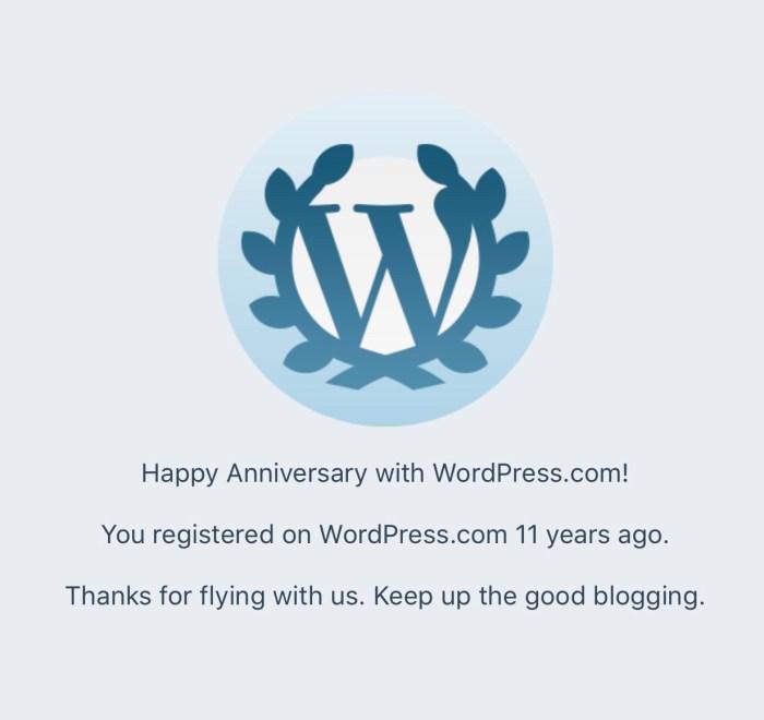 11 years on wordpress.com