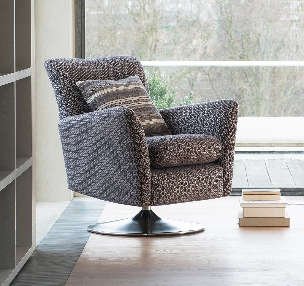 Evolution Chair Evolution 1704 Swivel Chair In Fabric
