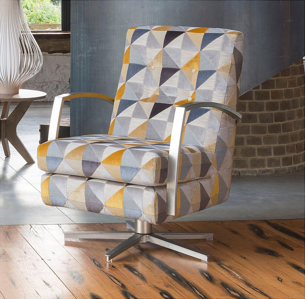 contemporary accent chair ergonomic cover alstons upholstery - stockholm oslo swivel