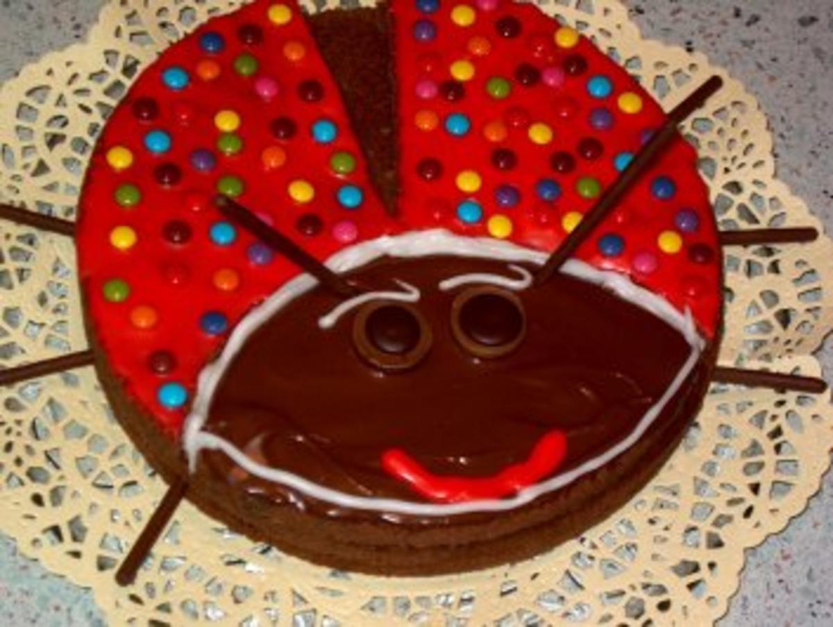 Lustige Marienkfer Torte  Rezept mit Bild  kochbarde