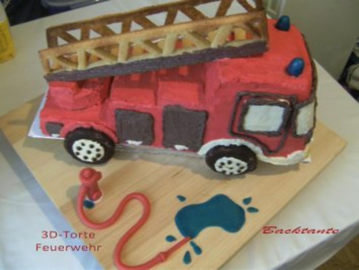 Kindertorte Feuerwehrauto