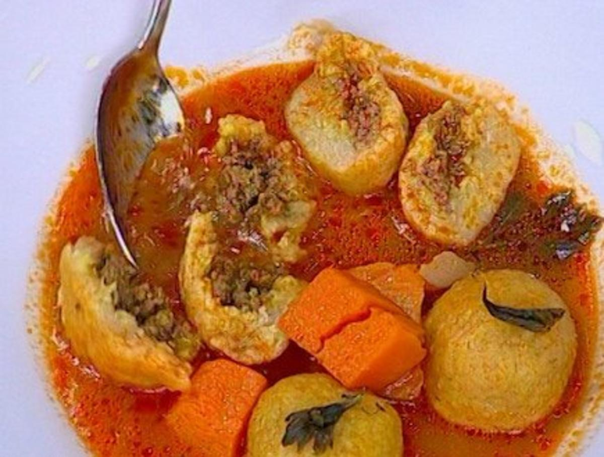 Gemsesuppe mit Einlage Kubbe  Rezept  kochbarde