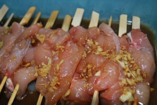 TeriyakiHhnchenSpiee vom Grill  Rezept  kochbarde