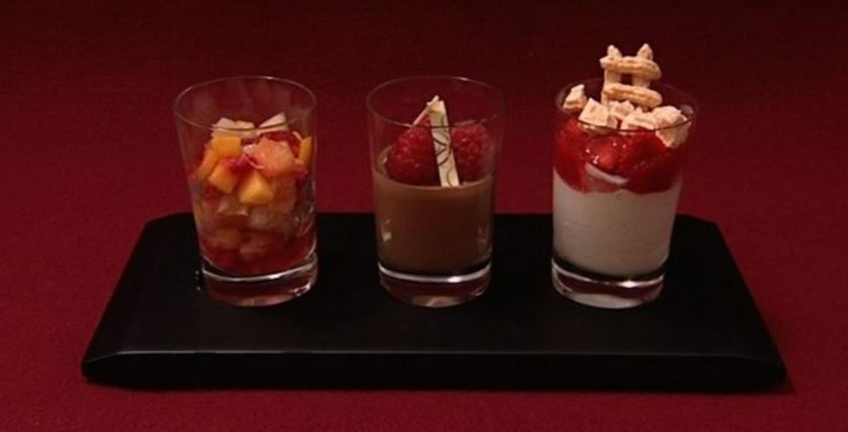 Dreierlei Dessertvariationen Willi Lemke  Rezept