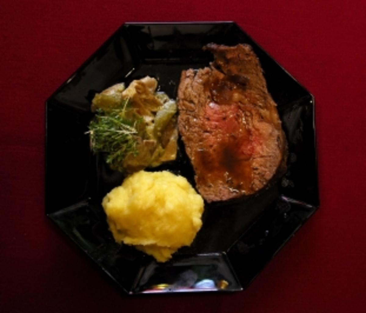 Roastbeef mit Kartoffelbrei Grit Bttcher  Rezept