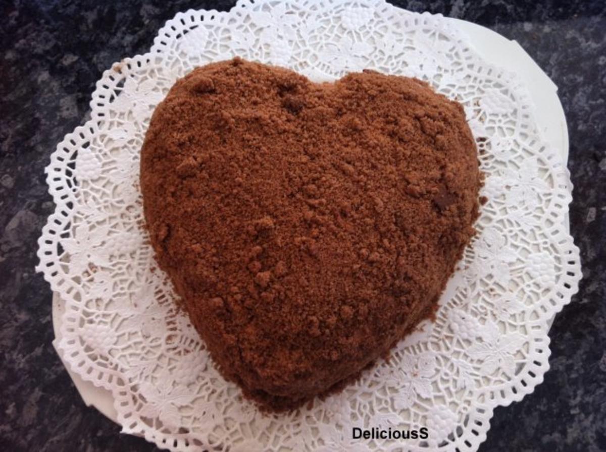 Maulwurfkuchen  Herzkuchen  Muttertagskuchen