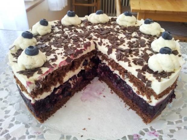 Torte Schwarzwlder Art mit Blaubeeren  Rezept  kochbarde