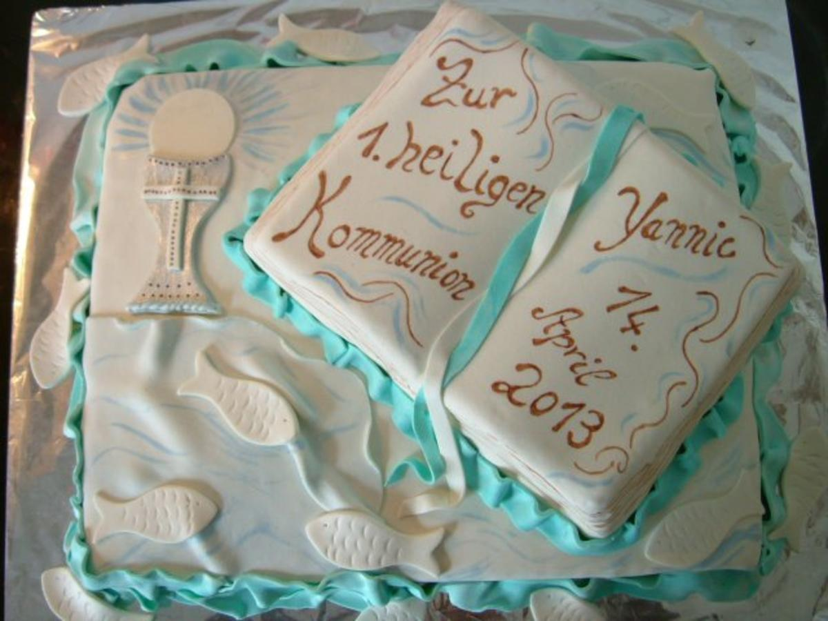 Kommuniontorte Kuchen Konfirmation  Rezept  Kochbarde