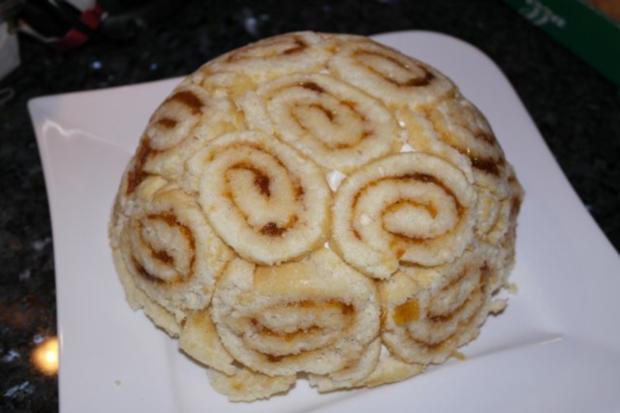 Torte PfirsichKsesahneCharlotte  Rezept  kochbarde