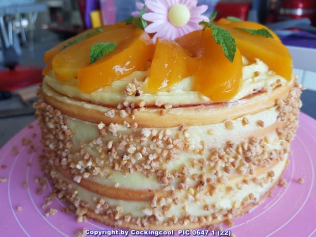 Oma Lffels Torten  Pfirsich Maracuja Torte im
