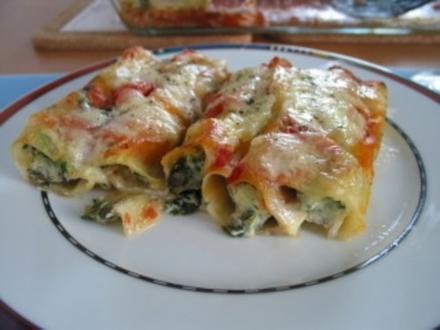 Bildergebnis für cannelloni al forno mit ricotta spinat füllung, kostenlosen bilder