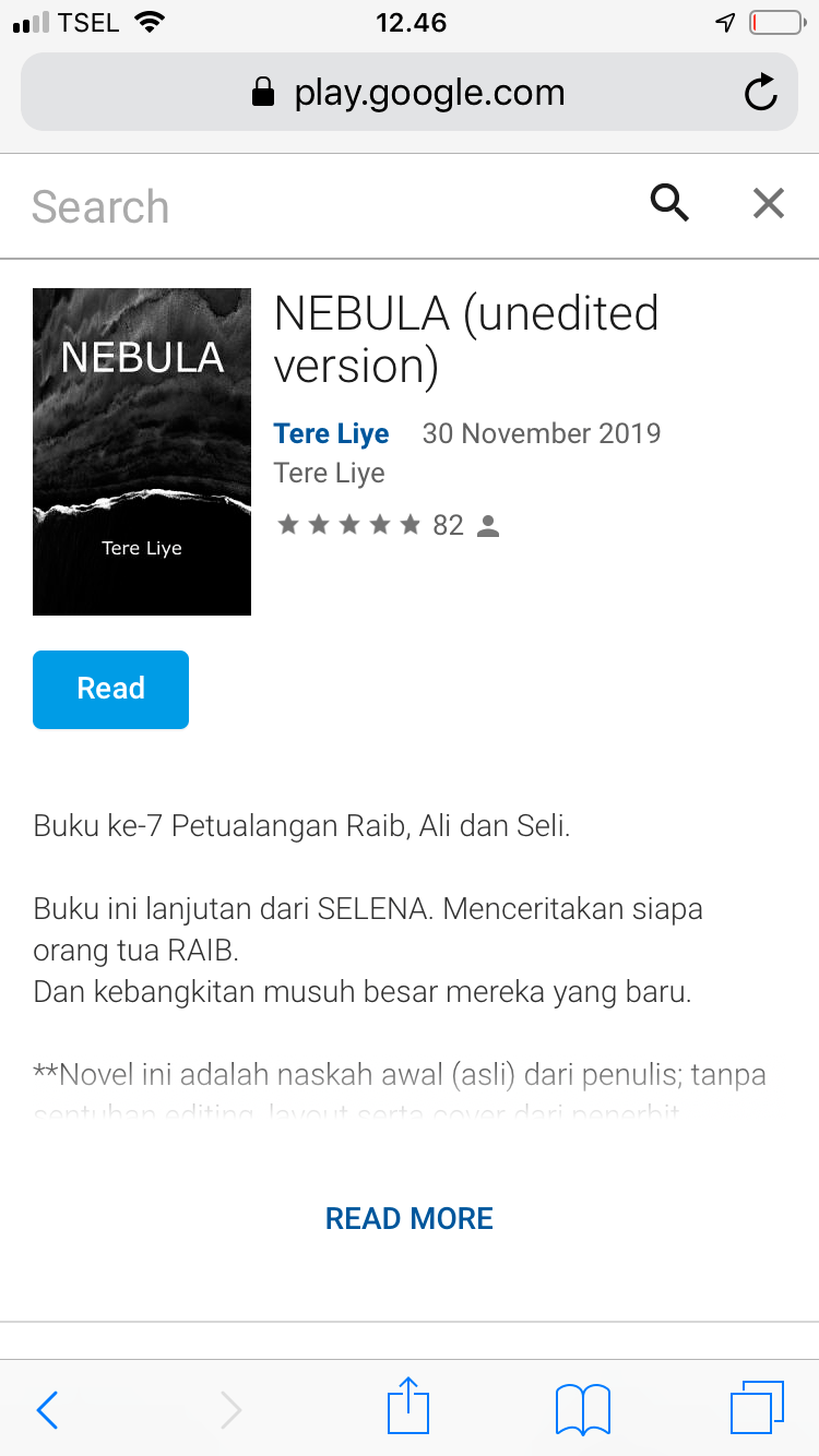 Download Novel Nebula Tere Liye Pdf : download, novel, nebula, Review, NEBULA, (Unedited, Version), Karya, Aisaidluv