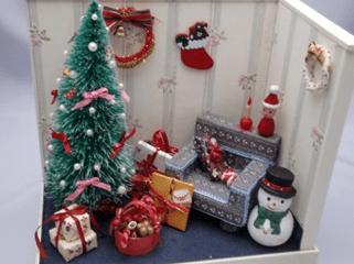 2011年 プレゼント用に作ったドールハウスのクリスマス