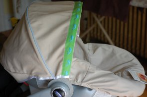 Infant seat cover. Picture from Little Bits.