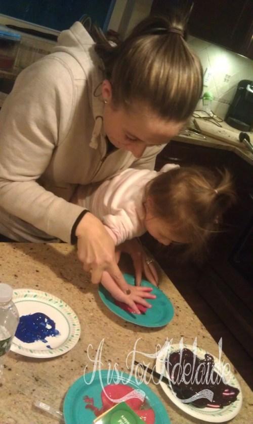 Ashley and Hadley #craft Turkey Hands 2013