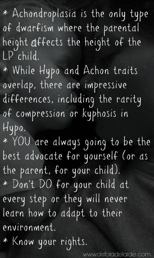 #LPAdc2013 Lpa National Conference notes #aisforadelaide Know Your Rights #hypo #achon