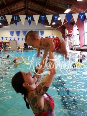 swimming Addie